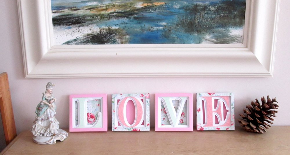Love by Hilary Milne using Alphabet Shadow box files from 3dcuts.com