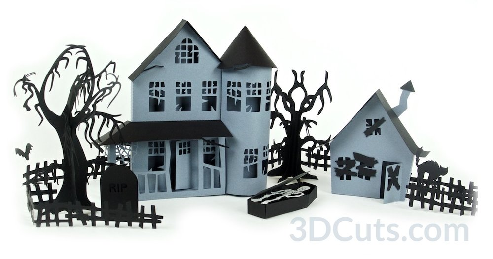 Haunted Series Village Group 3dcuts.jpg
