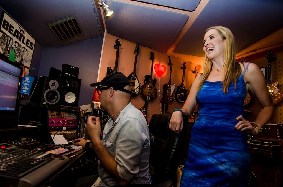 Michael Carpenter producing a singer at my latest workshop