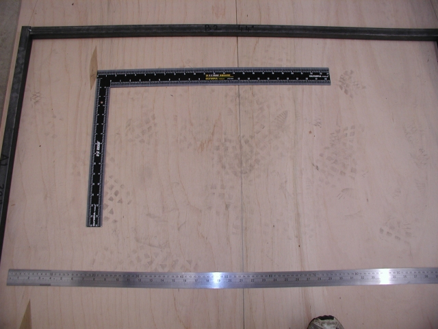 Close-up of the sort of square and ruler I am using (Ruler £6.25, square £3.99 - Bargain!)