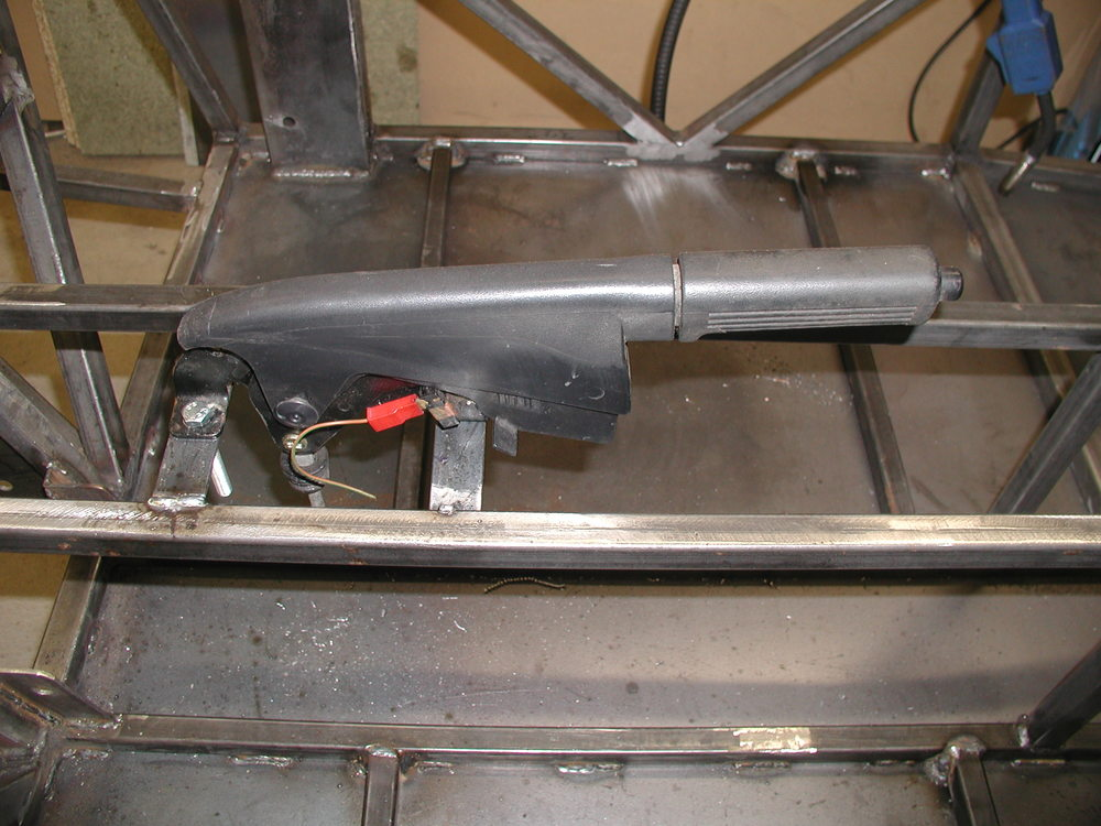 Item 9 - Handbrake mountings welded and drilled to suit Sierra lever