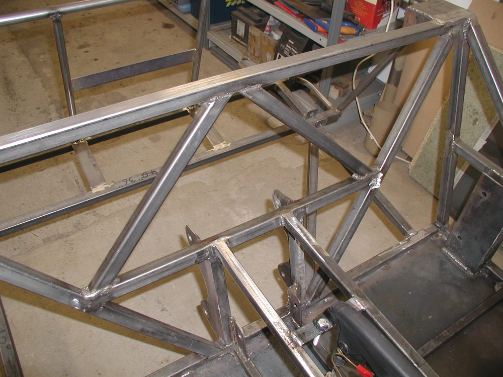 Item 8 - Seat back triangulation tubes welded (triangles are good for strength...)