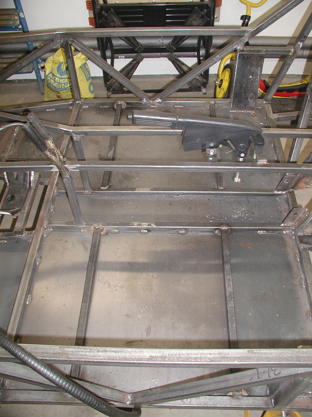 Item 7 from the list - Seat mounting braces welded in place