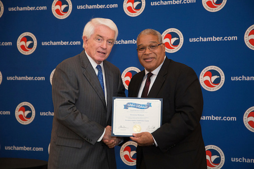Michael Christopher and Thomas J. Donohue, President and CEO of the U.S. Chamber of Commerce.