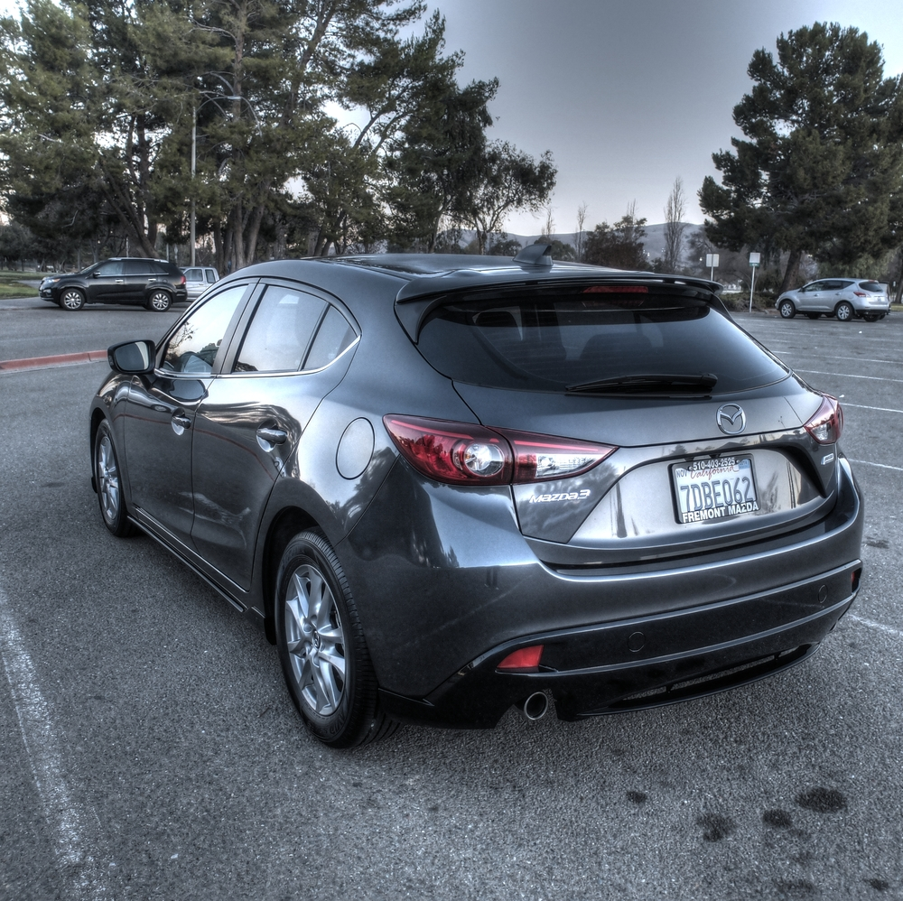 my 2014 mazda 3 with aero kit and spoiler project 7