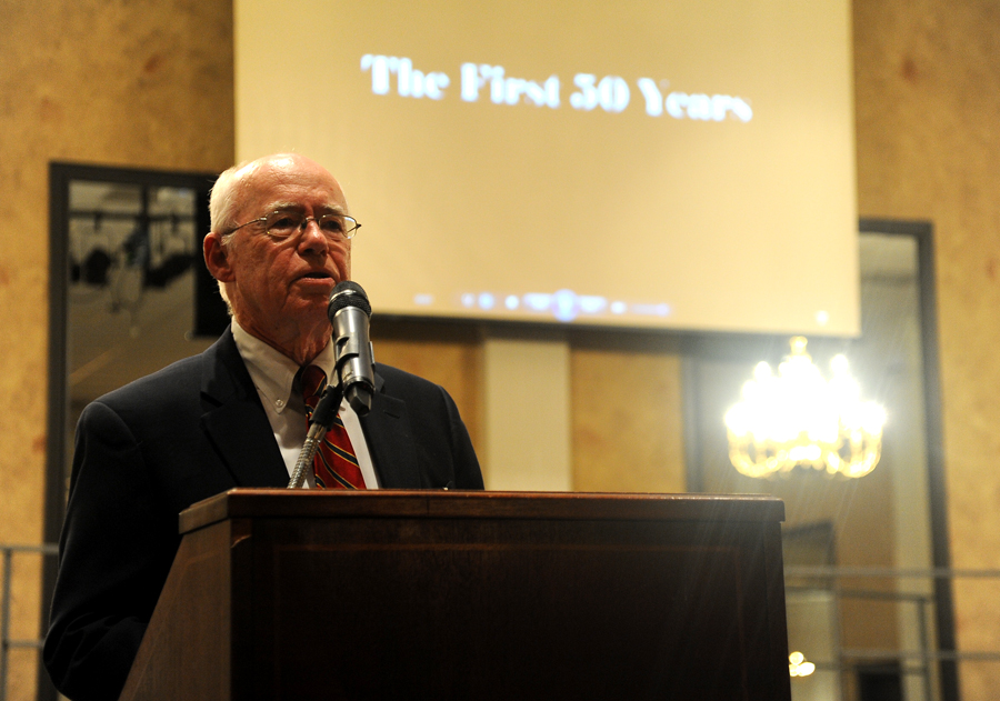 AOH President Bill McLaurine offers some words of wisdom. (Photo by Joel Currier)