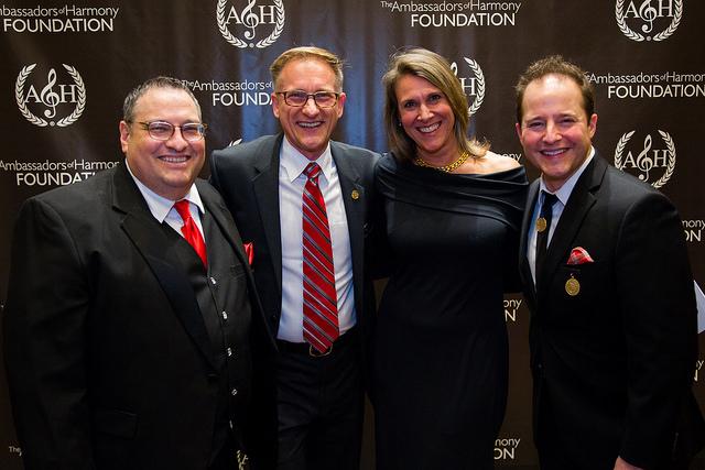 Dr. Jim Henry with BHS president Marty Monson, Amy Monson, & Co-Director Jonny Moroni