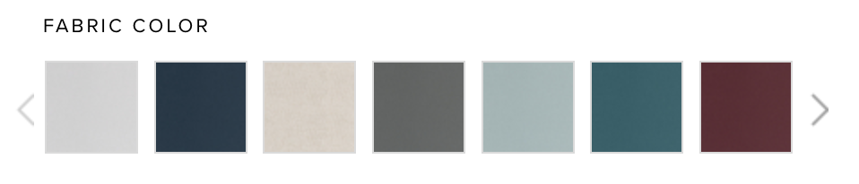 a few of the color options for the linen cover