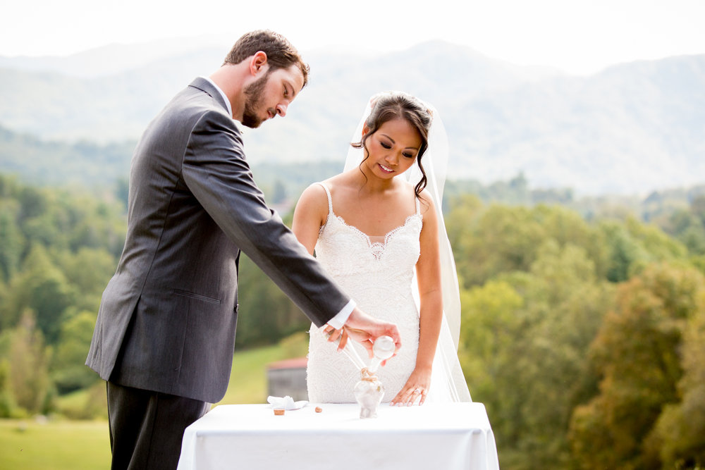 A wedding at The Ridge, Asheville, NC