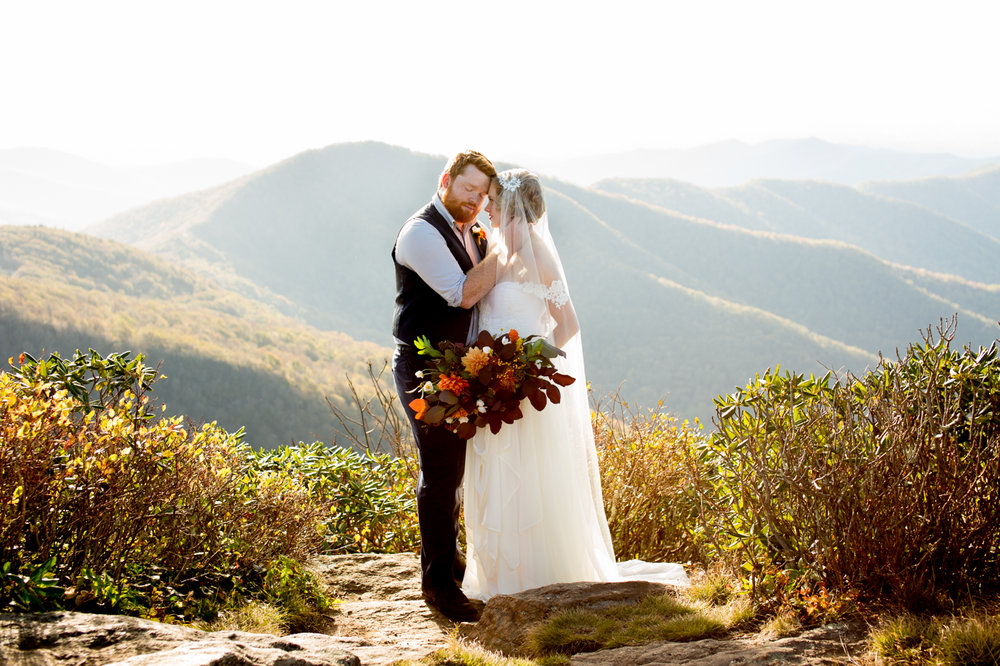 Blue Ridge Parkway, Craggy Garden Elopement