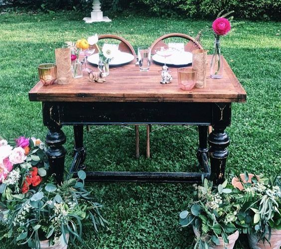 this table is from east west vintage rental