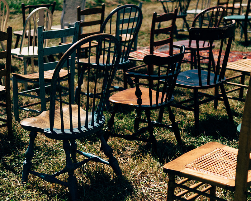 6 chairs from east west vintage rental