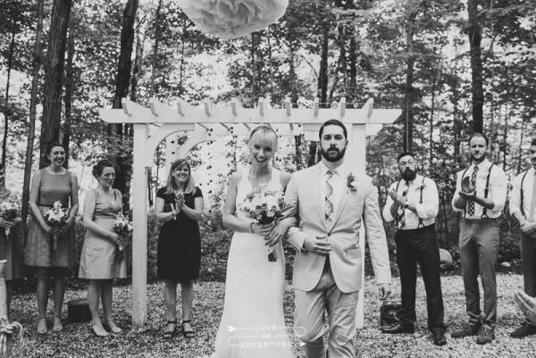 How do you want to be introduced at the end of your wedding ceremony? Photo by  Henry + Mac Photography