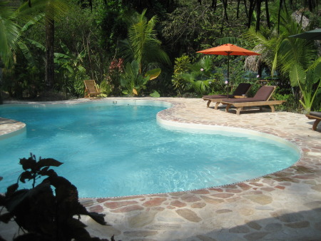 Looking for a honeymoon destination? Go to Costa Rica! This is the salted pool at El Pequeno Gecko Verde in Samara.