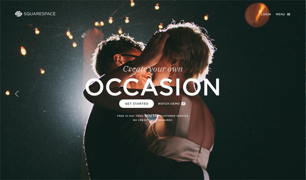 Squarespace Wedding Website | Cool Wedding Websites A Sweet Start
