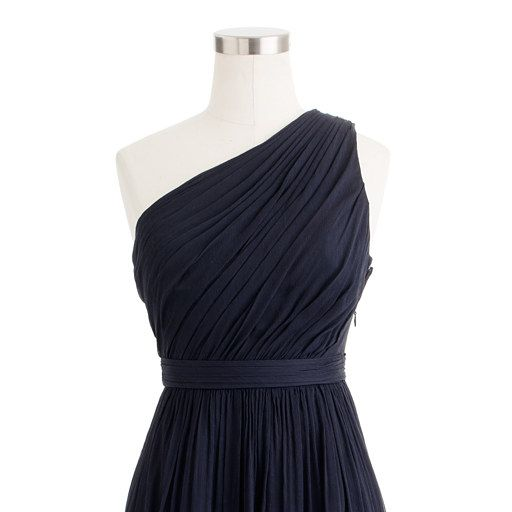 J. Crew Navy Bridesmaid Dress