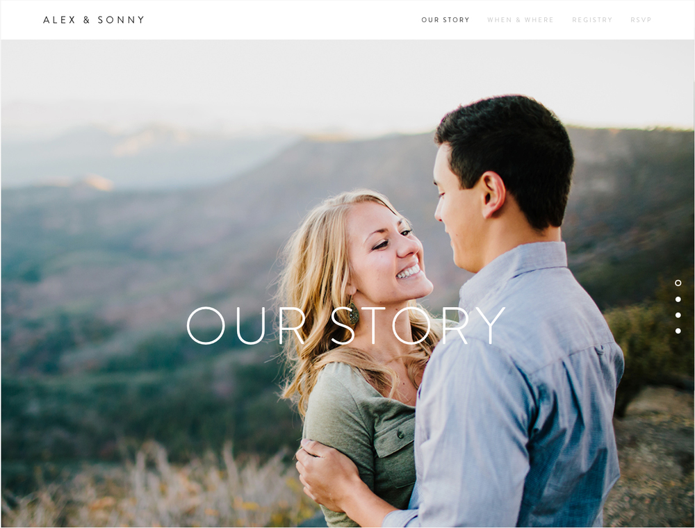 Why every couple should have a wedding website | Photo Squarespace Weddings