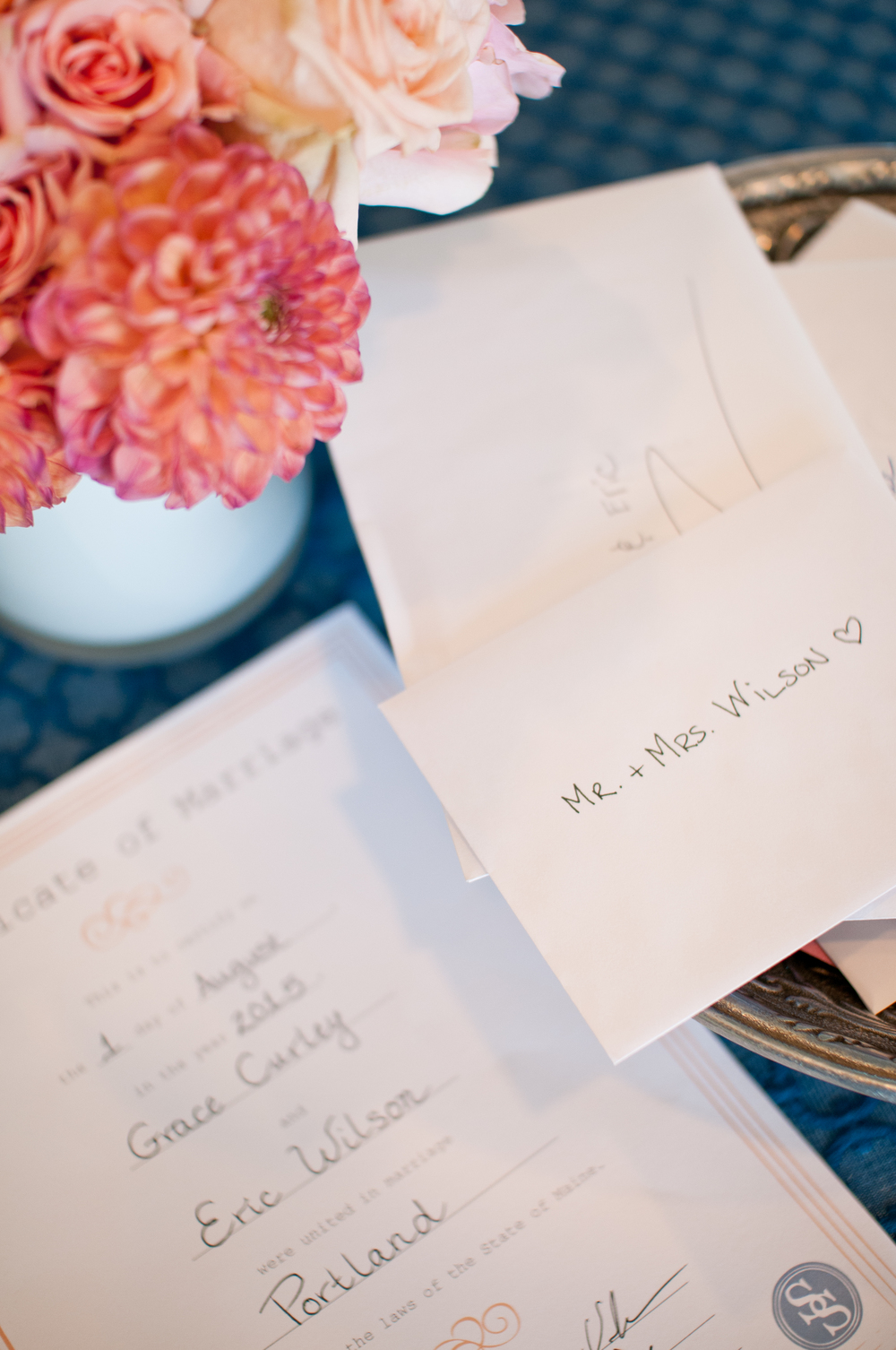 How to obtain your Maine marriage license after your wedding. Photo by  A Sweet Start