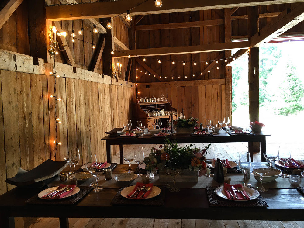 Maine rustic barn wedding | A Sweet Start Maine wedding officiant