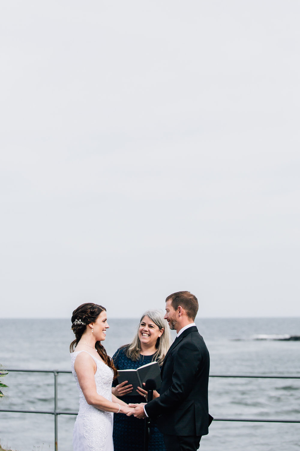 All you need is love! Real York, Maine wedding | Photo by  The Maine Tinker