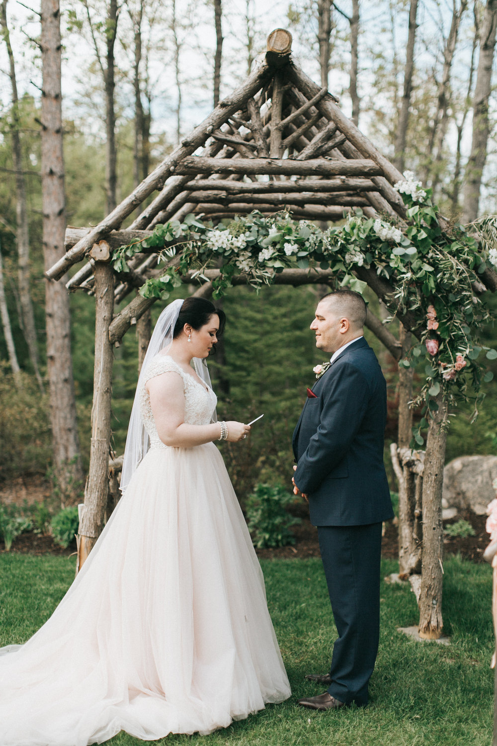 Best places to elope in Maine. Hidden Pond elopement officiated by  A Sweet Start  and photographed by  Emily Delamater Photography