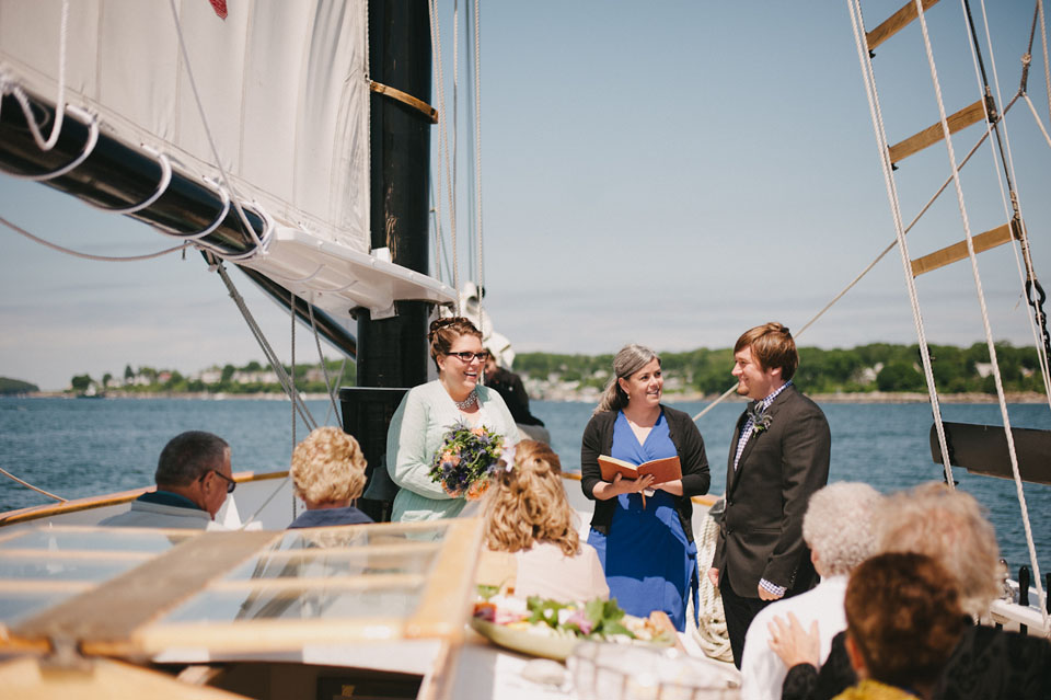 Weddings on the water in Maine | Photo on the Schooner Frances by  Alexandra Roberts Photography