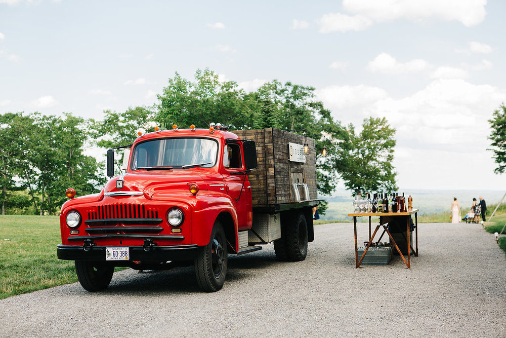 Maine food trucks for wedding catering | Photo of  Fire & Co.  by  Greta Tucker Photography
