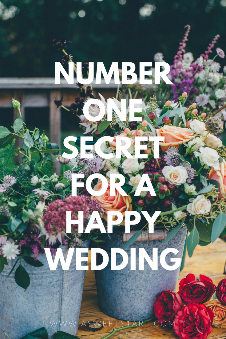Number one secret to a happy wedding | Photo by  Annie Spratt  on  Unsplash