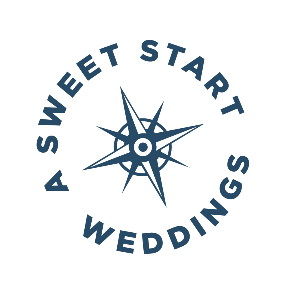 I chose the compass rose as my logo because I see my job as guiding you through the process of getting married and giving you a sweet start to your married life.  A Sweet Start  is a professional Maine wedding officiant.
