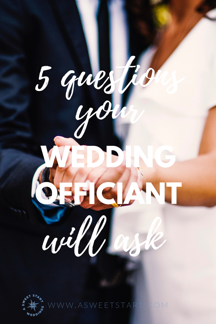 5 questions your wedding officiant might ask you during the inquiry call. Info provided by A Sweet Start | Photo by  Tiko Giorgadze
