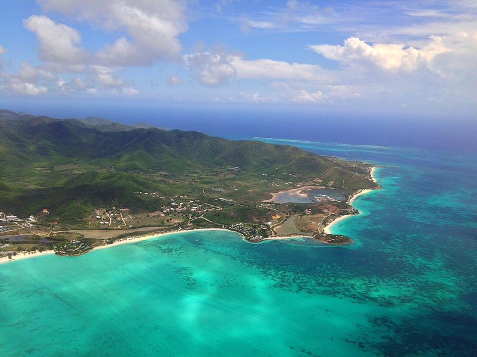 Antigua from above