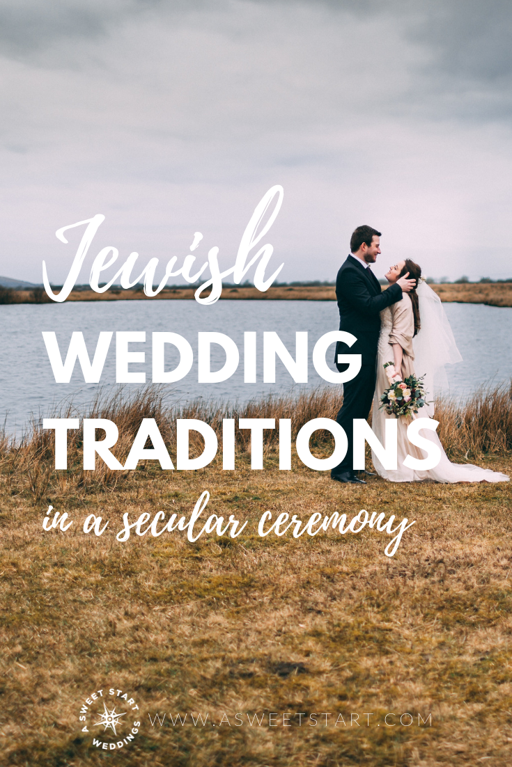 Ideas for incorporating Jewish wedding traditions into a non-religious wedding ceremony from an experienced wedding officiant,  A Sweet Start . Photo by Photo by  James Owen .
