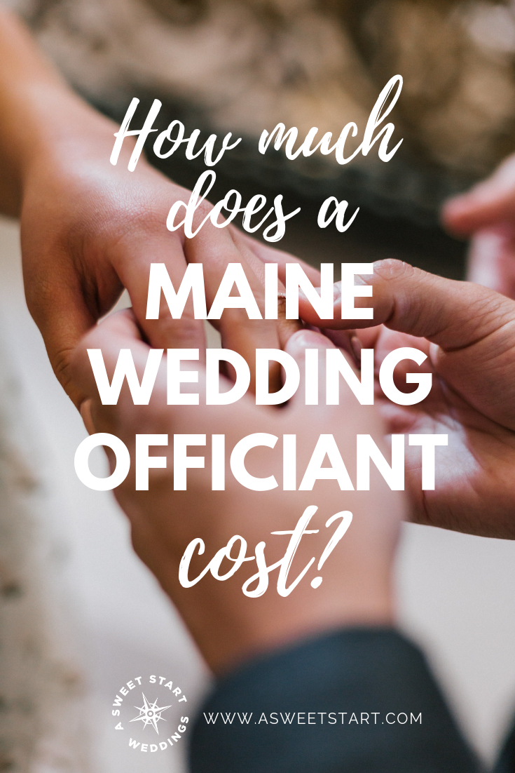 How much does a Maine wedding officiant cost? Photo by  Kevin Lanceplaine