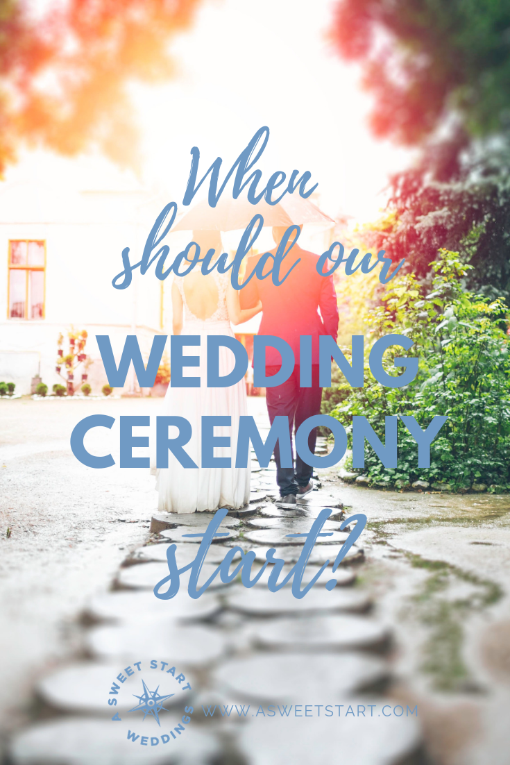 When should our wedding ceremony start? Tips for a well-paced wedding day from an experienced wedding officiant | Photo by  photo-nic.co.uk nic