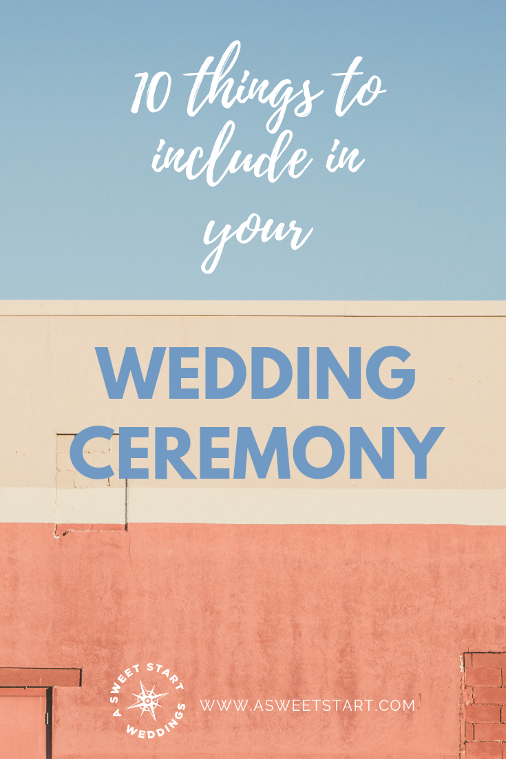 10 things to include in your wedding ceremony