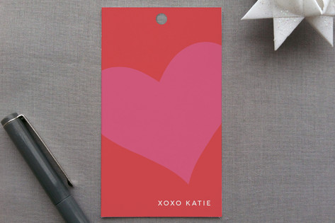 """with all my heart"" gift tags by guess what? on Minted"