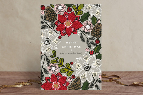 Poinsettias and Pinecones by Alethea and Ruth