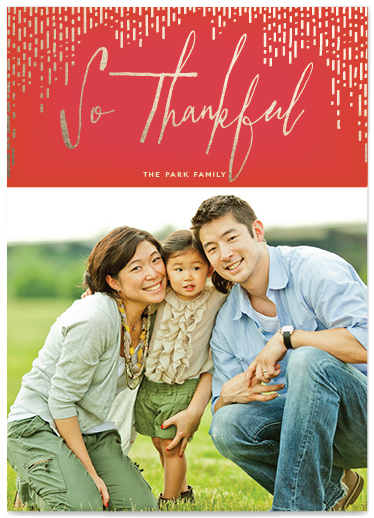 gilded thanks thanksgiving photo card