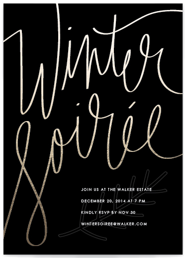 winter soiree holiday party invitation