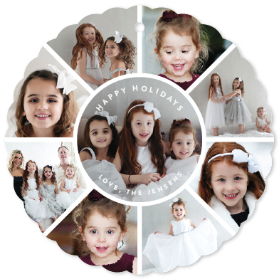 family circle holiday photo ornament