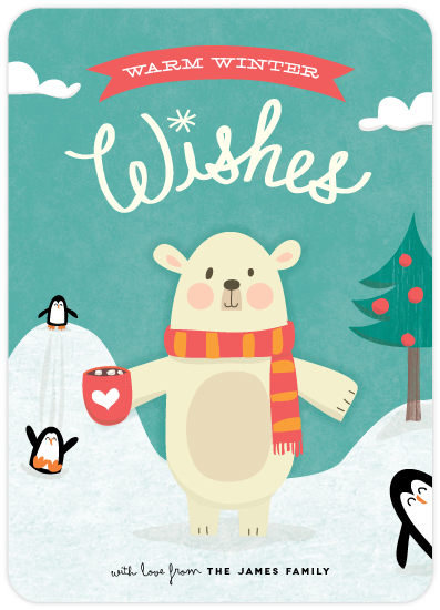 polar wishes holiday card