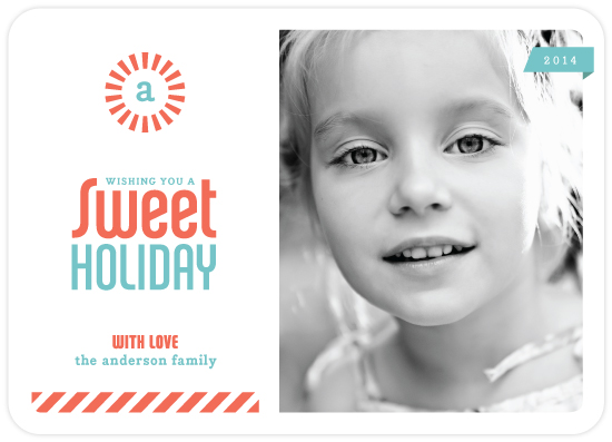 sweet holiday photo card