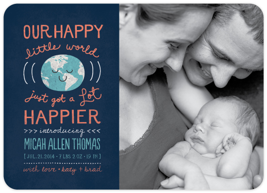 happy world birth announcement