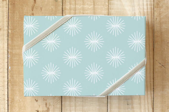 starburst aster blooms wrapping paper