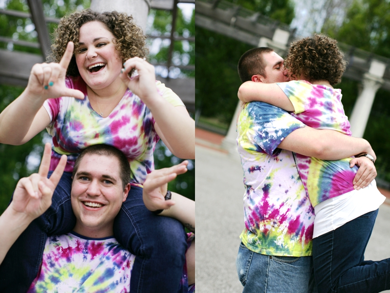 I think they're in love.... by the way, they made these t-shirts on a date..so cute