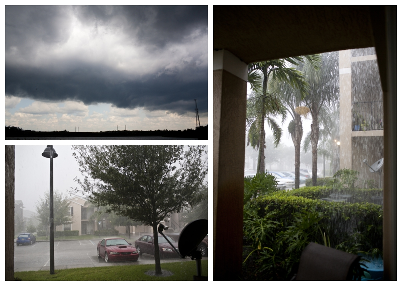 Watching the storm from the apartment, crazy!
