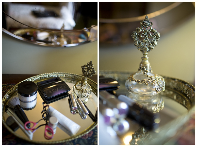 This perfume bottle was from Valerie's Great Grandma. It really is all about the little details.