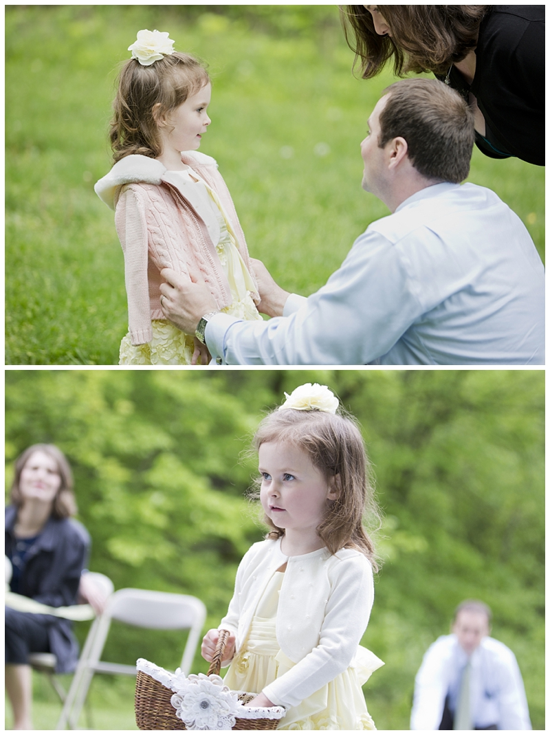 Charlotte was a great flower girl, this was her second gig after all :)