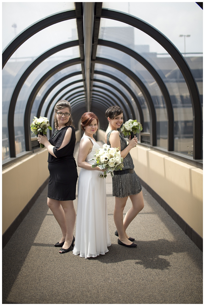 We were the Charlie's Angels :) If you hadn't heard, I was also in the wedding...I know a little complicated haha