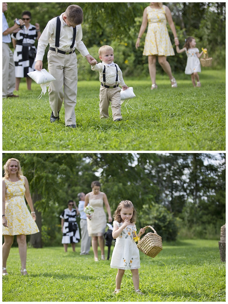 The poor flower girl had a Great Dane behind her..needless to say, she was a bit nervous